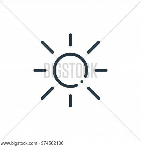 sun icon isolated on white background from ecology collection. sun icon trendy and modern sun symbol