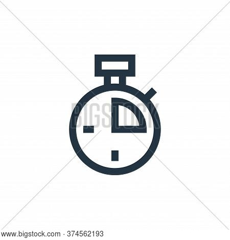 stopwatch icon isolated on white background from soccer collection. stopwatch icon trendy and modern