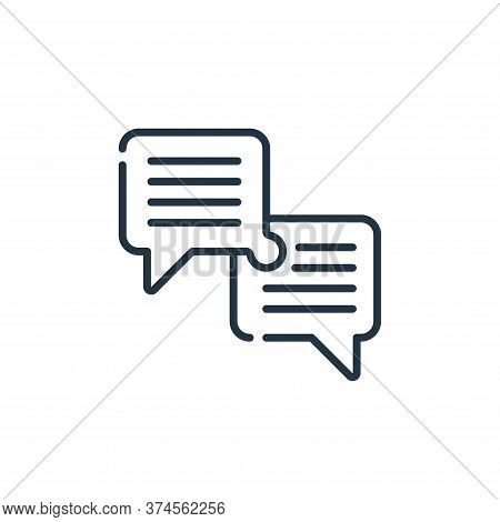 dialogue icon isolated on white background from life skills collection. dialogue icon trendy and mod