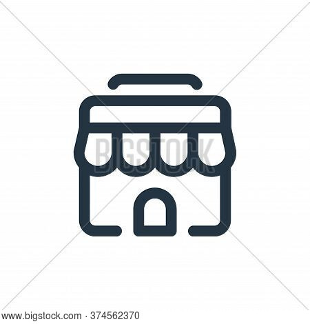 shop icon isolated on white background from shopping collection. shop icon trendy and modern shop sy