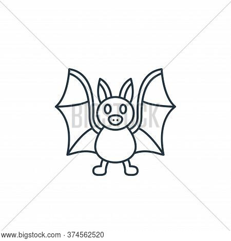 bat icon isolated on white background from coronavirus covid collection. bat icon trendy and modern