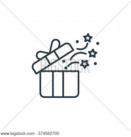 gift box icon isolated on white background from casino collection. gift box icon trendy and modern g
