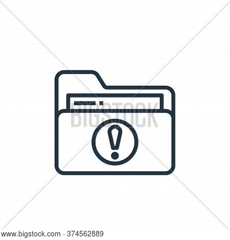 folder icon isolated on white background from stationery collection. folder icon trendy and modern f
