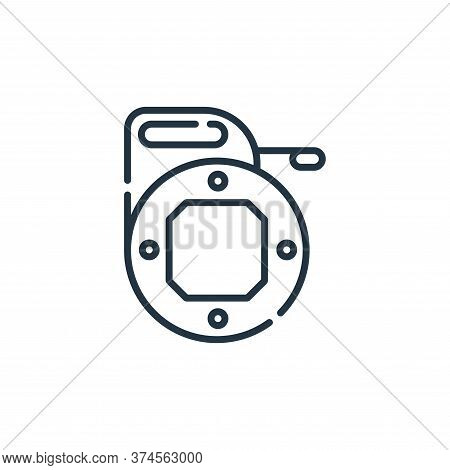 fish icon isolated on white background from electrician tools and elements collection. fish icon tre
