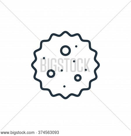 germ icon isolated on white background from stop virus collection. germ icon trendy and modern germ
