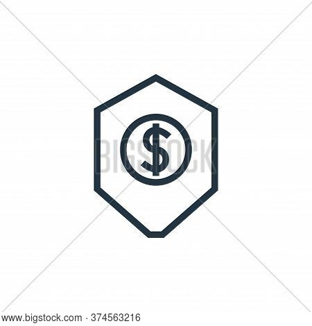 protection icon isolated on white background from finance collection. protection icon trendy and mod