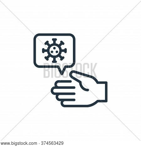 hand icon isolated on white background from coronavirus collection. hand icon trendy and modern hand