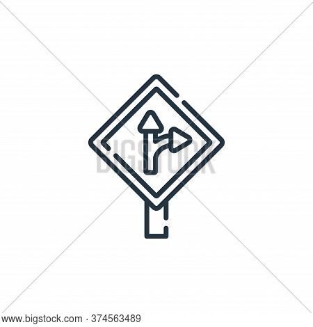 turn right icon isolated on white background from navigation and maps collection. turn right icon tr