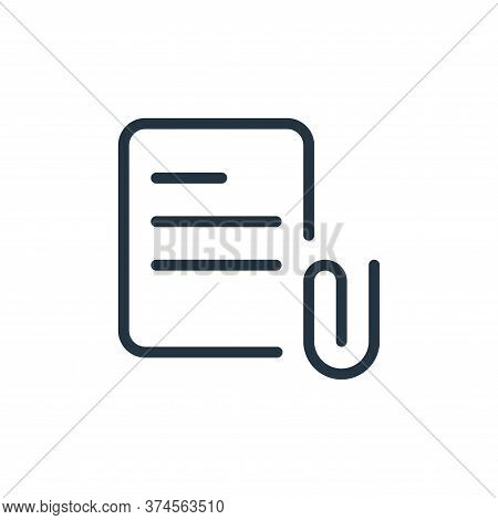 clip icon isolated on white background from work office supply collection. clip icon trendy and mode