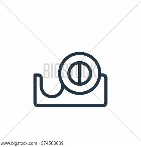 tape dispenser icon isolated on white background from work office supply collection. tape dispenser