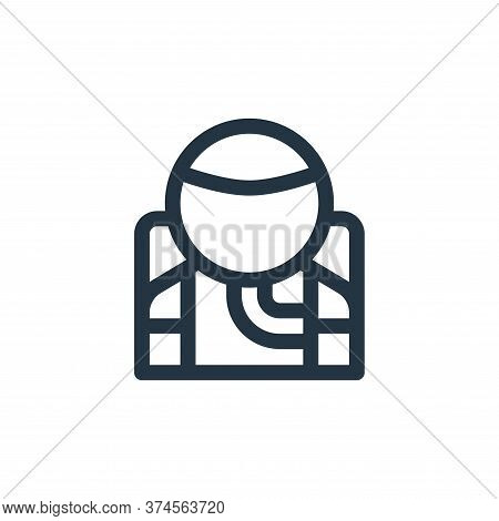 astronaut icon isolated on white background from technology of the future collection. astronaut icon