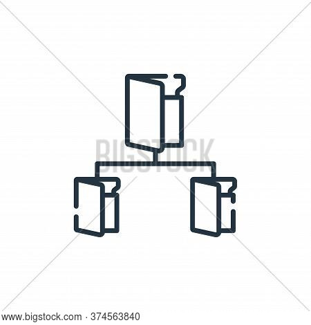file system icon isolated on white background from database and servers collection. file system icon
