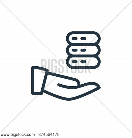 data sharing icon isolated on white background from work office server collection. data sharing icon