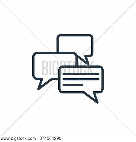 messages icon isolated on white background from communication collection. messages icon trendy and m