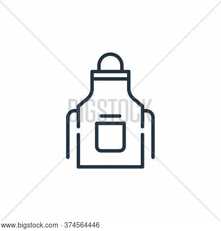apron icon isolated on white background from cleaning collection. apron icon trendy and modern apron