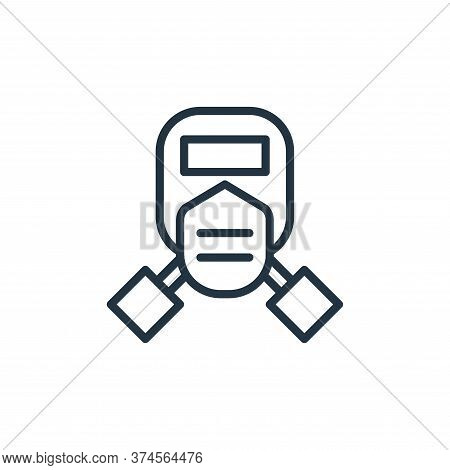 mask icon isolated on white background from engineering collection. mask icon trendy and modern mask