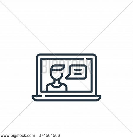 video chat icon isolated on white background from fame collection. video chat icon trendy and modern
