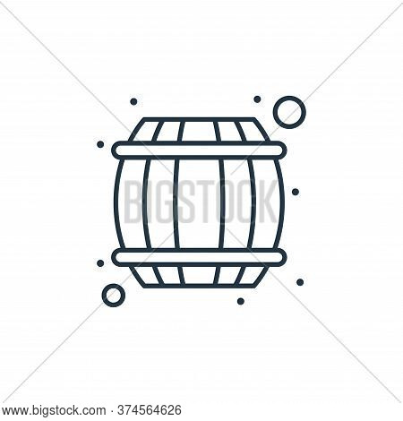 barrel icon isolated on white background from saint patrick collection. barrel icon trendy and moder