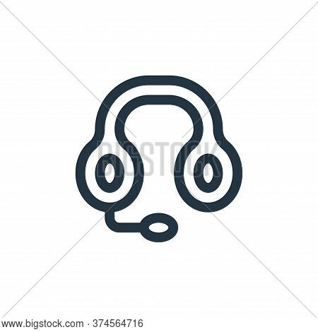 headphones icon isolated on white background from news collection. headphones icon trendy and modern