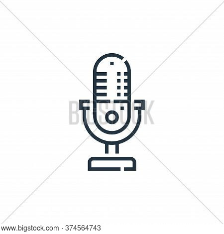 microphone icon isolated on white background from videoblogger collection. microphone icon trendy an