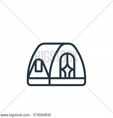 tent icon isolated on white background from camping collection. tent icon trendy and modern tent sym