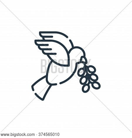dove icon isolated on white background from hippies collection. dove icon trendy and modern dove sym
