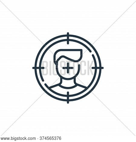 target icon isolated on white background from life skills collection. target icon trendy and modern