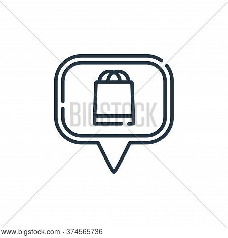 shopping center icon isolated on white background from navigation and maps collection. shopping cent