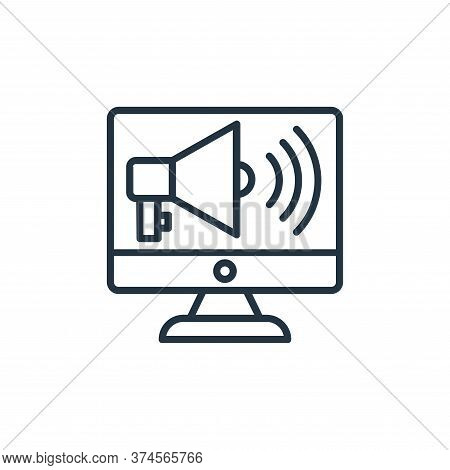 online marketing icon isolated on white background from shopping line icons collection. online marke