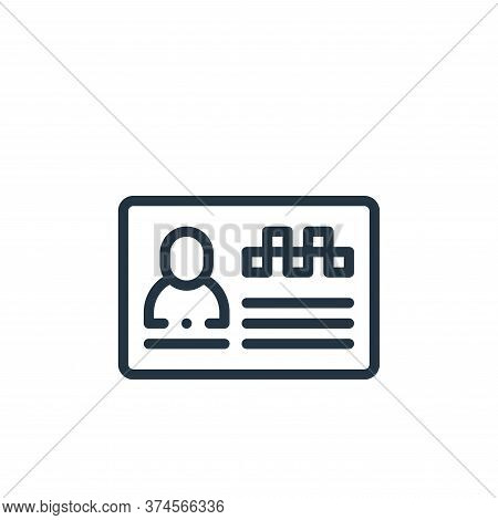 id card icon isolated on white background from taxi service collection. id card icon trendy and mode