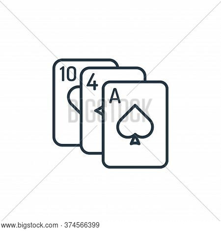 Card game icon isolated on white background from casino collection. Card game icon trendy and modern