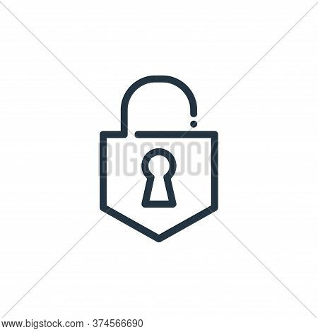 lock icon isolated on white background from ricon collection. lock icon trendy and modern lock symbo
