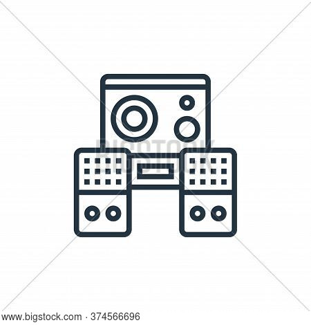 audio speaker icon isolated on white background from cinema collection. audio speaker icon trendy an