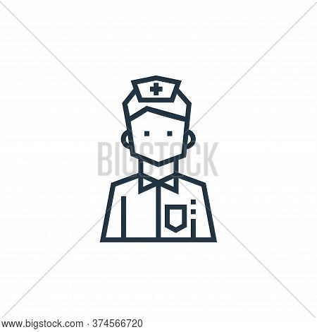 male nurse icon isolated on white background from medical services collection. male nurse icon trend