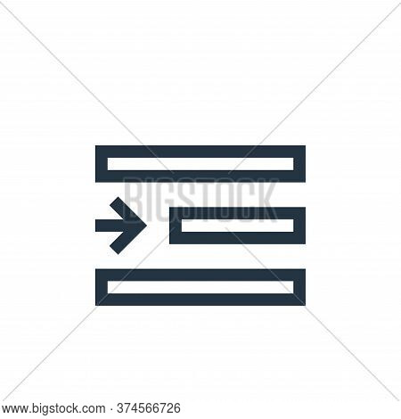 right indent icon isolated on white background from text editor collection. right indent icon trendy