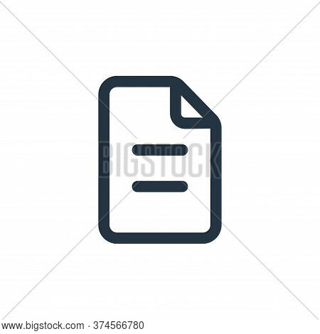 document icon isolated on white background from device collection. document icon trendy and modern d