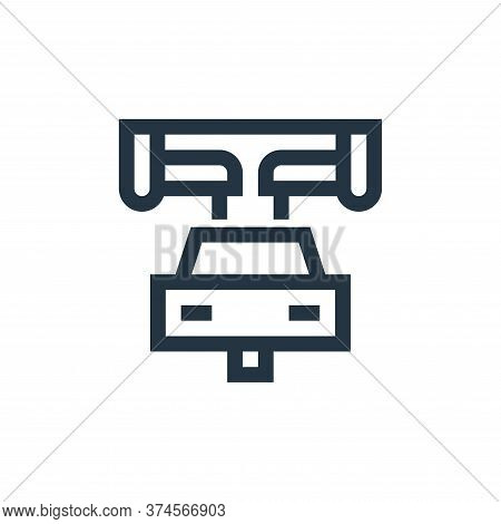 car manufacturing icon isolated on white background from manufacturing collection. car manufacturing
