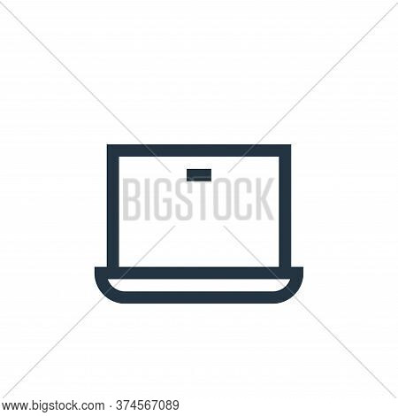 laptop icon isolated on white background from web essentials collection. laptop icon trendy and mode