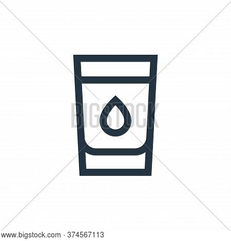 water icon isolated on white background from nutrition collection. water icon trendy and modern wate