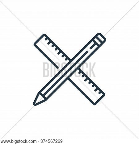 ruler icon isolated on white background from life skills collection. ruler icon trendy and modern ru