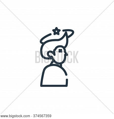 headache icon isolated on white background from symptoms virus collection. headache icon trendy and