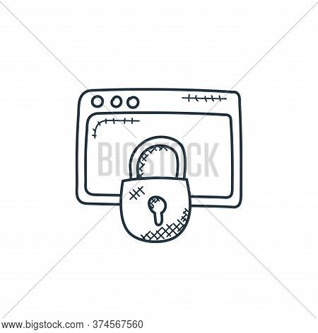 data security icon isolated on white background from technology collection. data security icon trend