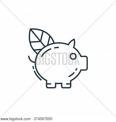 piggy bank icon isolated on white background from environment and eco collection. piggy bank icon tr