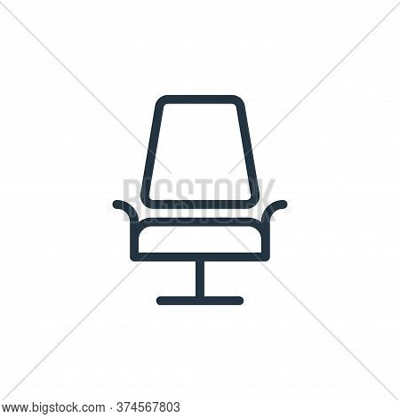 chair icon isolated on white background from work office supply collection. chair icon trendy and mo