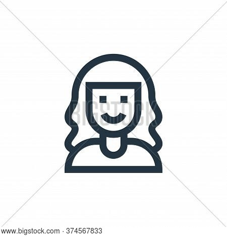 girl icon isolated on white background from people collection. girl icon trendy and modern girl symb
