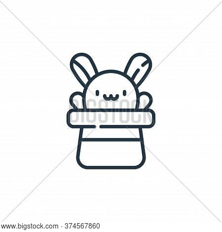 rabbit icon isolated on white background from circus collection. rabbit icon trendy and modern rabbi