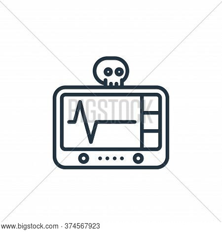 cardiogram icon isolated on white background from funeral collection. cardiogram icon trendy and mod