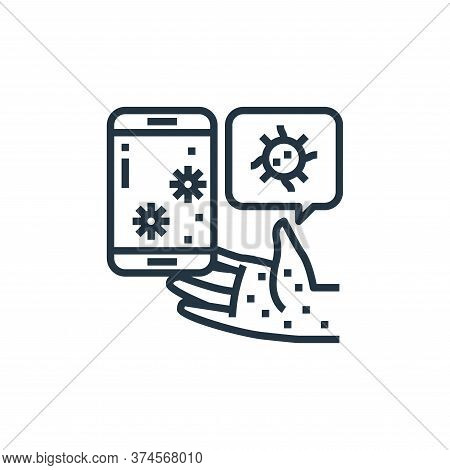 smartphone icon isolated on white background from coronavirus collection. smartphone icon trendy and