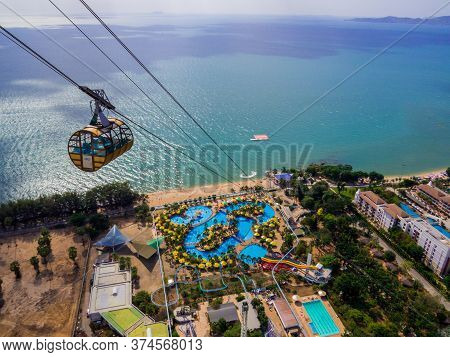 Pattaya, Thailand - December 31, 2019: Aerial View Of The Pattaya Park.