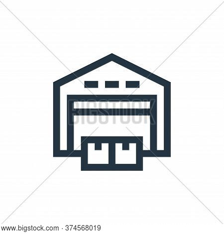 warehouse icon isolated on white background from industrial process collection. warehouse icon trend